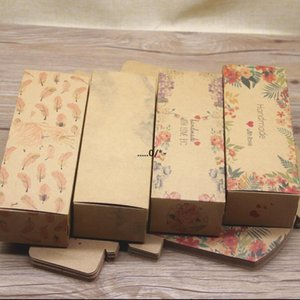 Rectagnle Gift Packaging Box Marble Pattern Present Accessory Packing Container White Kraft Wedding Party Tea Leaf Boxes EWA4615