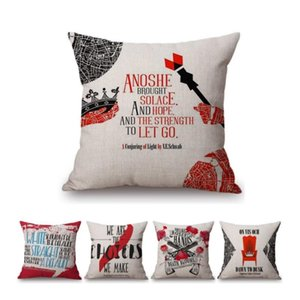"18"" Nordic Black Red Book Magazine Cover Design Letter Print Cotton Linen Decorative Sofa Throw Pillow Case Chair Cushion Cushion Decorative"