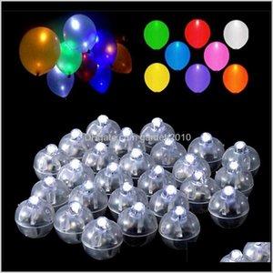 Mini luz redonda Lámpara de bolas Luz Cambiando Luces de globo para la boda Día de San Valentín Día de Navidad Decoración CD4NT G3XQJ