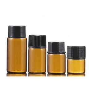 1ml 2ml 3ml 5ml Amber Glass Essential Oil Bottle Perfume Sample Tubes Bottles Small Empty Glass Bottle Home Fragrances Diffusers DBC BH2656