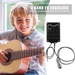 Acoustic Guitar Preamp Piezo Pickup Tuner with Mic Accessory Musical Instruments 301 4-Band EQ Equalizer