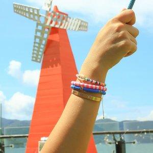 Charm Bracelets QUANCHI Natural Shell Pandent Bracelet Fashion Polymer Clay Beads Pulsera Handmade Friendship For Women Jewelry