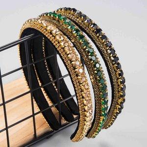 Fashion Baroque bands Simple Full Rhinestone Headband Girls Solid Crystal Hoop Lady Bezel for Hair Accessories