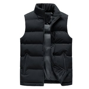 Tracksuit Men Jacket Winter Men Vest For Down Cotton Sleeveless Jacket Waistcoat Man Big Size Warm Mens Coat boy Vests with zipp
