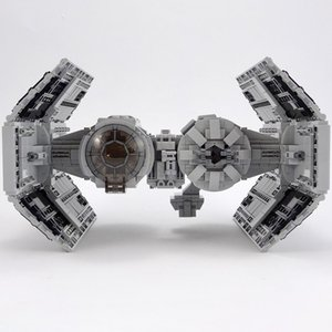 Interstellar Space Military Series Wars Tie Space Fighter-Interceptor Building Blocks Assembly Toys For Children Kids Xmas Gifts K716