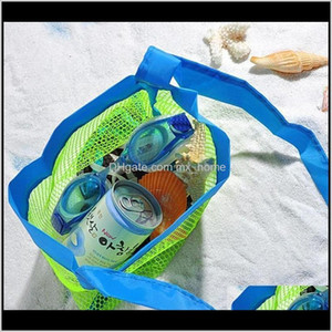 Storage Bags Applied Nappy Away Mesh Towel Wholesale Toy Baby Children Enduring Clothes Toys Beach Bag Folding Sand Collection Bt8Ye N0Iov