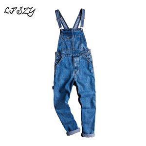 Jeans Hommes Lfszy Hommes Hommes Casual Blue Denim Combinaisons Lâche Logement de Jeans Sling Tallings