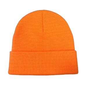9 colorways Autumn winter solid color real beanies for woman cashmere unisex Warm knitted hat wholesales