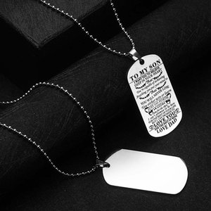 Quality High Stainless Your Men Necklace For Military Engraved Love Family Dog Gift Steel For & Necklace Lover Tag Jewelry Family Vnvao