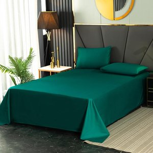 Sheets & Sets 100% Cotton Solid Flat Sheet Bed Cover Bedsheet Black White Green Single Twin Full Queen King Home Textiles Wholesale