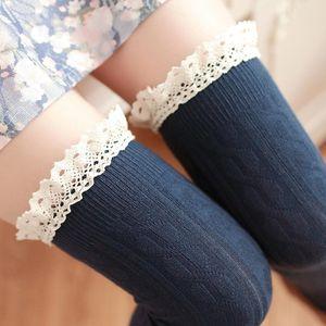 1Pair Thigh High Socks Girls Lace Winter Warm Stocking Women Sexy Long Stocking Medias Pantyhose Stockings Knee High Socks Meia
