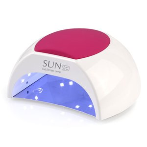 SUN2C 48W Nail Dryer UV LED Nail Lamp Gel Polish Curing UV Lamp with Bottom 30s 60s Timer LCD Display Lamp for Nail Dryer L0407