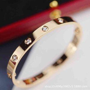 Bangle Bracelet v Gold Second Generation Seiko Kajia Love Narrow Sky Star Wide Version with Ten Diamond Rings