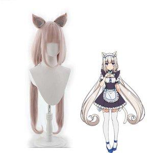 Anime Nekopara Chocolate Vanilla Cosplay Maid Dress Lolita Cute Costume Cat Neko Women Halloween Show Girls Skirt Set Y0913