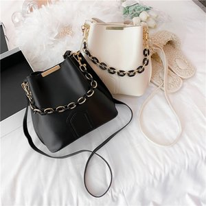 fashion 2020 bucket bag acrylic chain hand-held women's bag large capacity fashion simple one shoulder fashionable bag