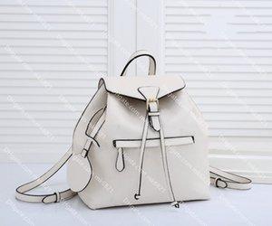 الجلود سبيرون مونتسوريس ظهره فاخر مصممين حقيبة المرأة حقيقية الأزياء حقيبة مدرسية عالية الجودة سيدة الظهر حزمة حجم 30 * 27 * 1