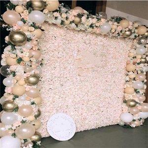 Decorative Flowers & Wreaths 60x40cm Artificial DIY Wedding Decoration Flower Wall Panels Silk Rose Romantic Backdrop Decor