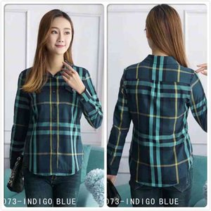 New Fall Winter Women's Clothing Fashion Plaid Shirt Casual Women Print Blouses Elegant Office Business Lady Slim Fit Stylish Shirts Tops