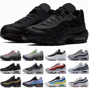 air max 95 حذاء جري ثلاثي أسود أبيض نيون ليزر فوشيا أحمر أوربت ولدت أكوا 95s رجال مدربين أحذية رياضية أحذية مقاس 40-45