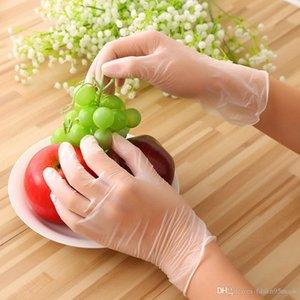 Transparent PVC Designer Gloves Dishwashing Kitchen Latex Rubber Garden Disposable Gloves Universal For Home Cleaning Boxing Gloves FreeShip