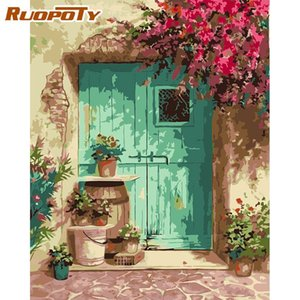 RUOPOTY Painting Numbers Kits For Adult Children Landscape Oil Picture By Number Hand Painted Modern Home Wall Decoration