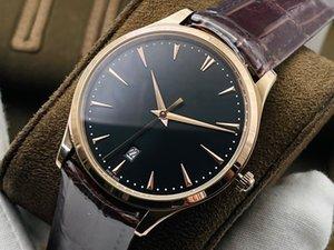 JL fábrica relógio de três pinos Q1548420 Diâmetro 40mm espessura 8.8mm equipado com Cal.925 / 1 movimento Chain Hollow caixa de giro automático espelho de safira