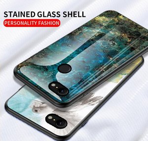Cell Cases Marble Tempered Glass Phone Case For Google Pixel 3A 4A 4 3 Xl 2Xl Oneplus 8 7 Pro 7T 6T 6 E2H0H Wc310