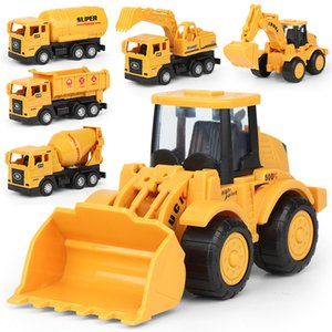Inertial Truck Model Toy Mini Engineering Cars Forklift Excavator Bulldozer Tanker Vehicles Toys Children Boy Gift for Wholesale