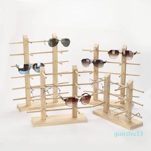 Multi Layers Wood Sunglass Display Rack Shelf Eyeglasses Show Stand Jewelry Holder for Multi Pairs Glasses Showcase