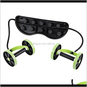 Ab Rollers Equipments Supplies Sports Outdoors Drop Delivery 2021 Professional Abdominal Waist Puller Roller Fitness Equipment Slimming Muscl