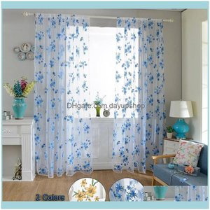 Deco El Supplies Home Garden Sheer Curtains For Living Room The Bedroom Kitchen Tulle Windows Voile Yarn Purple Curtain & Drapes Drop
