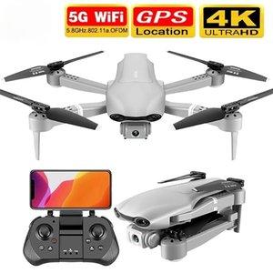 Nouveau Drone F3 GPS 4K 5G WIFI Vidéo Vidéo Vidéo FPV Quadrotor Vol 25 minutes Distance de 500m Drone HD à double angle HD Cadeau