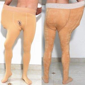 Негабаритные зимние утолщенные флисовые арбуз промежности промежностные колготки стремя Леггинсы Pijamas карандаш термальные брюки мужские панталонские брюки