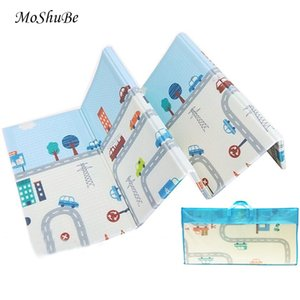 Thick Educational Children's Mat XPE Foldable Baby Mat Developing Kids Rug Road Game Playmat Soft Floor 210401