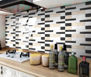 wallpaper 20cm*10cm Crystal adhesive floor paste kitchen oil proof decoration Sticker Mosaic Wall Stickers
