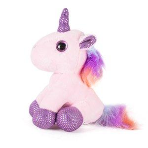 Popular Creative Children's Plush Toy Pillow Girl Heart Tanabata Gift Cartoon Unicorn Keychain Doll Pendant