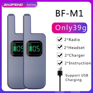 Walkie Talkie 1 2pcs Baofeng M1 M2 Mini Portable 16CH UHF 400-470MHz For BF-888S Transceiver Surport USB Charging Two Way Radio
