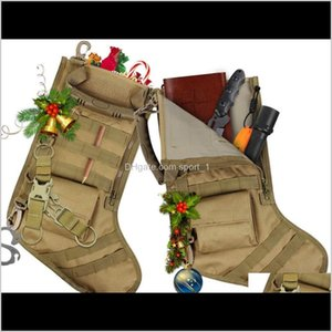 Decorations Hanging Tactical Molle Father Christmas Stocking Dump Drop Utility Storage Bag Military Combat Hunting Magazine Pouch Ppdv Frthb