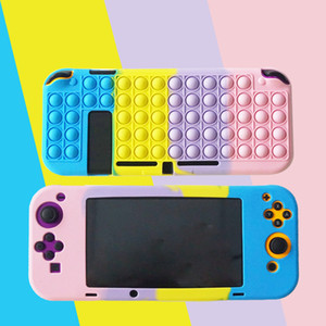 2021 Fidget Bubble Shockproof Silicone Protective Cover Case for switch game controller Sensory anti stress toy item