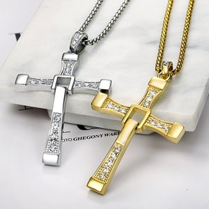 High Quality 18KGP Cross Necklace Jewelry for Men Mix Min Order $15-in Pendant Necklaces From Jewelry