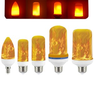 LED Flame Effect Light Bulbs 4 Modes with Upside Down E27 Base Bulb for Decorations Hotel Bar Christmas Party Restaurant Outdoor Home Decor crestech