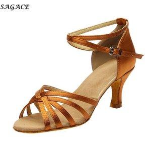 Kadınların Yüksek Topuklu Sandalet 2021 Profesyonel Dans Ayakkabıları Balo Salonu Tango Salsa Dans Bayanlar Latin # 30