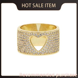 Regalo amarillo oro color radiante madre sdzstone cz anillo dedo claro joyería mujer corazones fnqax