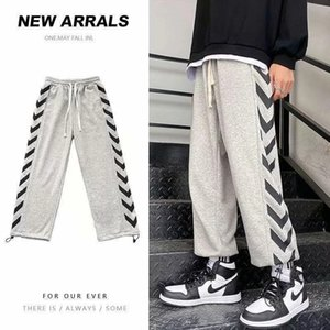 Loose All-Matching Straight Casual Pants Men's Spring and Summer Thin Korean-Style Ankle-Length Sports Pants Wide-Leg Sweatpants