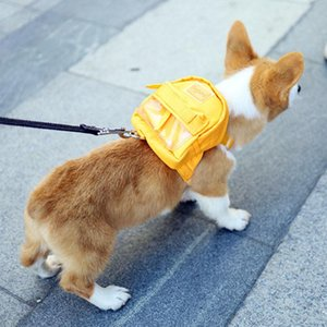 Dog Backpack Pet Carrier With Harness Korean Style Cat School Bag Portable Walking Travel Saddle For Small Dogs Car Seat Covers