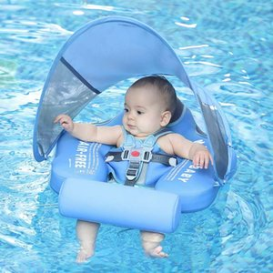 Mambobaby Effen Non-inflatable Newborn Taille Float Lie Down Pool Toys Swimming Ring Swim Trainer for Baby