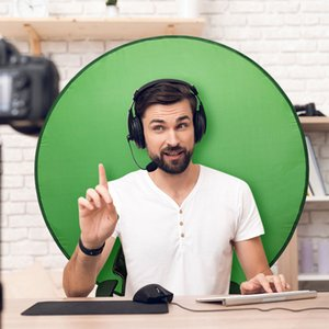 Backdrop Background Green Screen Photography Props Polyester Materials Portable Solid Color Photos Suitable for YouTube Video Studio Reflector Backdrops Cloth