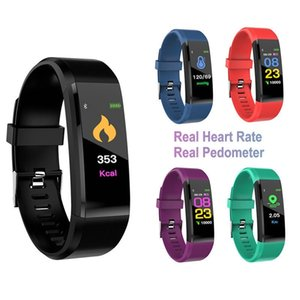 Intelligent Wristbands 115 Plus Smart Watch Bracelet Fitness Tracker Heart Rate Health Monitor Wristband Universal Cellphones with Retail Box