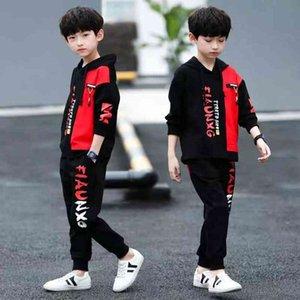 Boys Clothes Set Sweatshirt Pants 2 Piece Outfit Spring Autumn Kids Sport Suit Children Clothing 7 8 9 10 11 12 Year