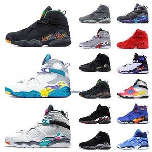 AJ8 2021 мужские баскетбольные ботинки 8s Валентин аквариум обратный отсчет 8 мужские кроссовки дизайнер спортивный размер 7 - 13